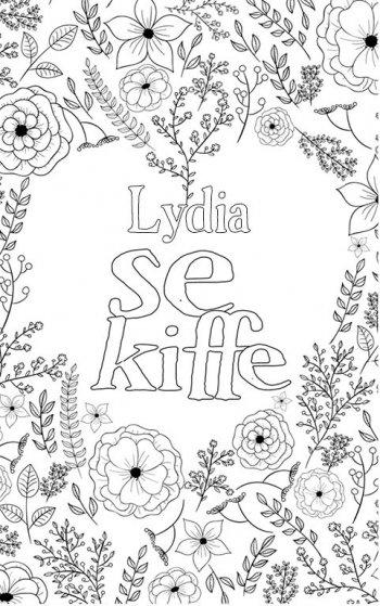 coloriage adulte anti stress personalisé avec prénom Lydia. Citation : Lydia se kiffe