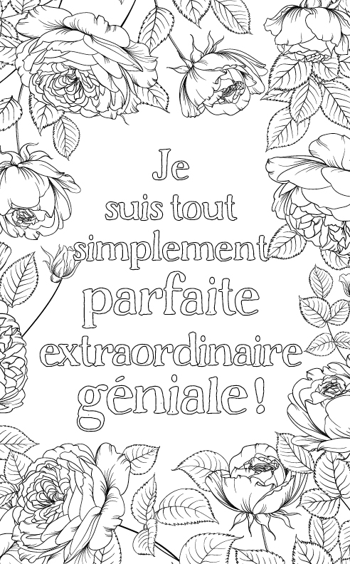 coloriage adulte anti stress personalisé