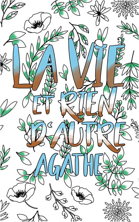 coloriage adulte anti stress personalisé avec prénom Agathe idée cadeau meilleure amie