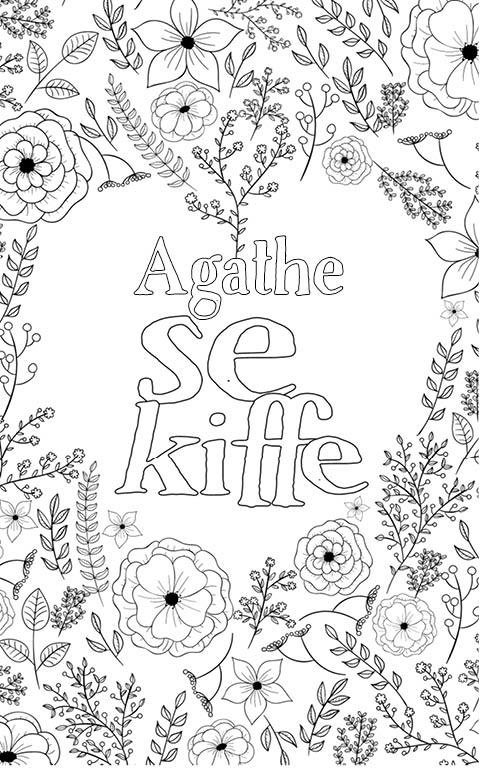 coloriage adulte anti stress personalisé avec prénom Agathe