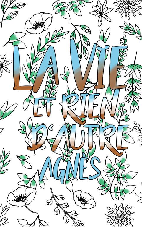 coloriage adulte anti stress personalisé avec prénom Agnès idée cadeau meilleure amie