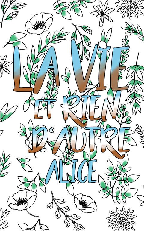 coloriage adulte anti stress personalisé avec prénom Alice idée cadeau meilleure amie