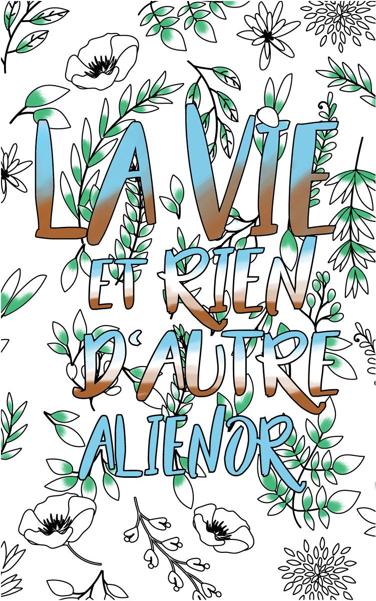 coloriage adulte anti stress personalisé avec prénom Alienor idée cadeau Alienor