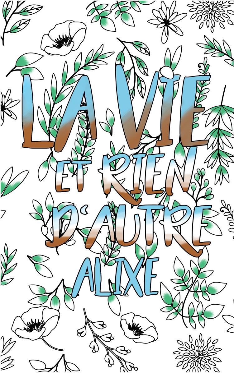 coloriage adulte anti stress personalisé avec prénom Alixe idée cadeau Alixe