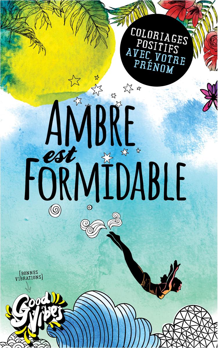 Ambre est formidable livre de coloriage personalisé cadeau pour sa meilleure amie ou sa mère