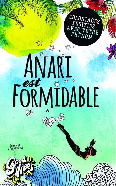 Anari est formidable livre de coloriage personalisé cadeau pour sa meilleure amie ou sa mère