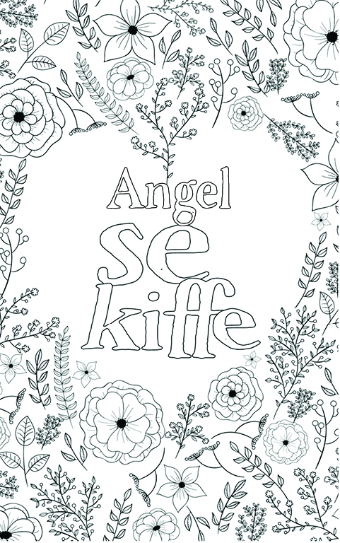 coloriage adulte anti stress personalisé avec prénom Angel