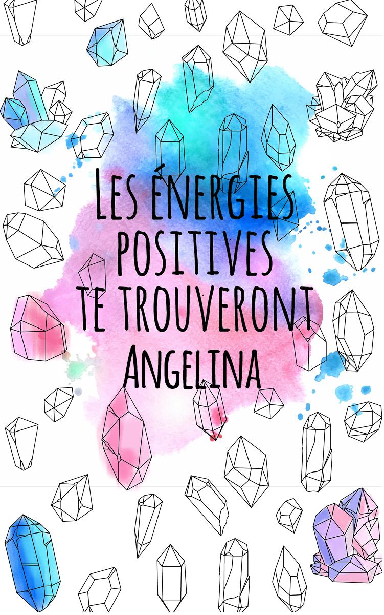coloriage adulte anti stress personalisé avec prénom Angelina idée cadeau Angelina