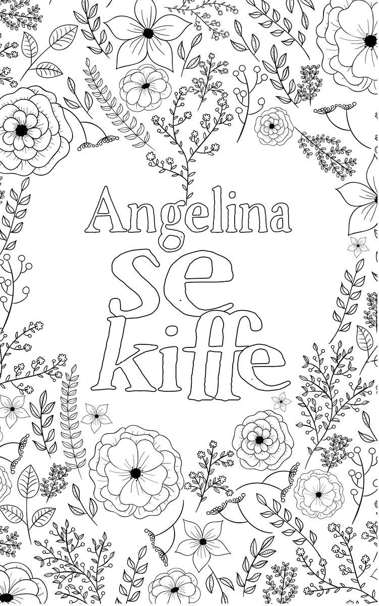 coloriage adulte anti stress personalisé avec prénom Angelina