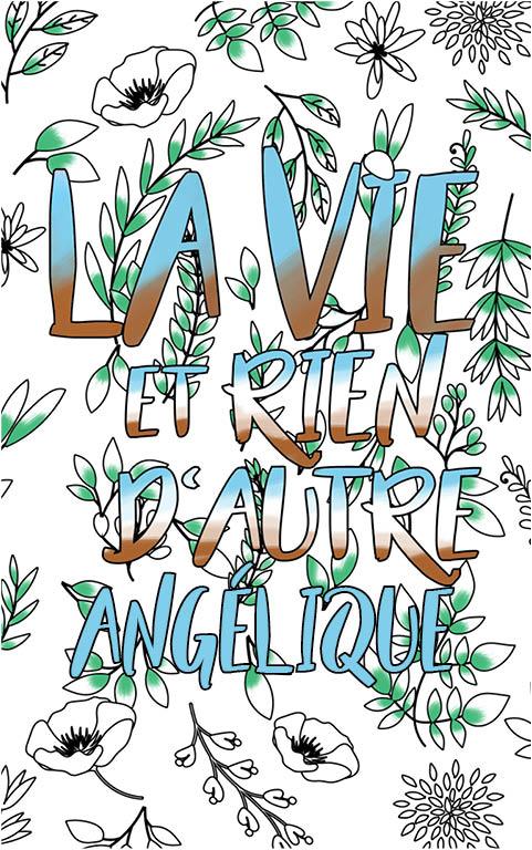 coloriage adulte anti stress personalisé avec prénom Angélique idée cadeau meilleure amie