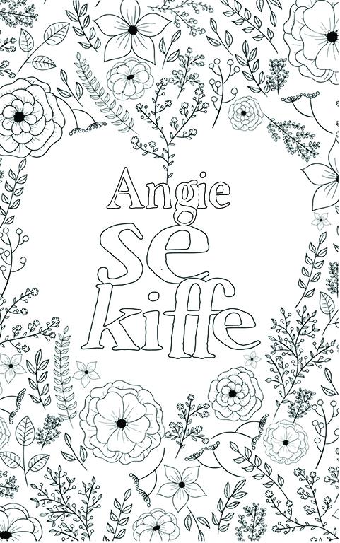 coloriage adulte anti stress personalisé avec prénom Angie