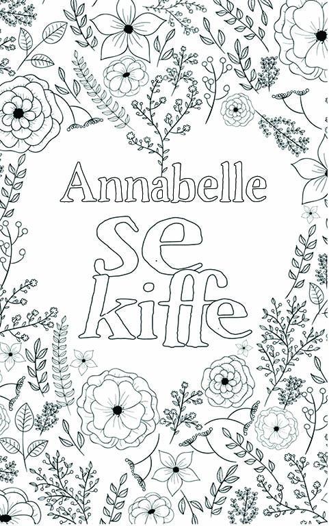 coloriage adulte anti stress personalisé avec prénom Annabelle