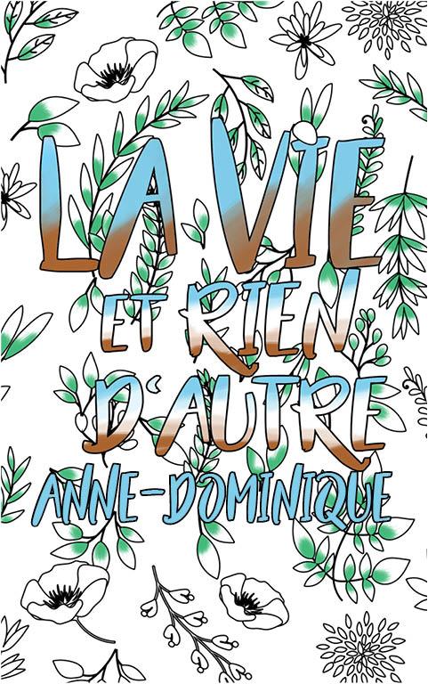 coloriage adulte anti stress personalisé avec prénom Anne-Dominique idée cadeau meilleure amie