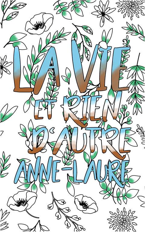 coloriage adulte anti stress personalisé avec prénom Anne-Laure idée cadeau meilleure amie