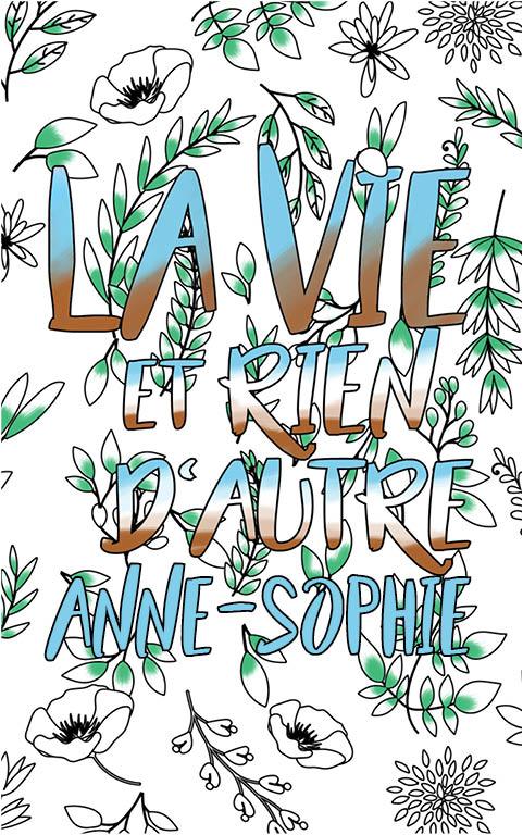 coloriage adulte anti stress personalisé avec prénom Anne-Sophie idée cadeau meilleure amie