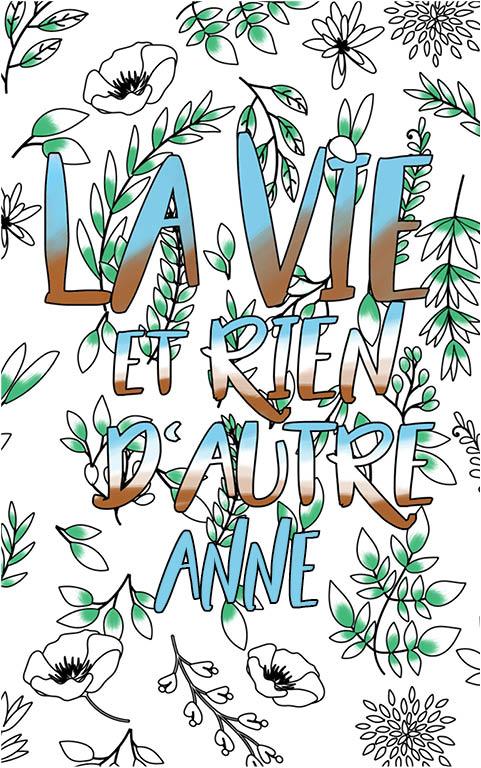 coloriage adulte anti stress personalisé avec prénom Anne idée cadeau meilleure amie