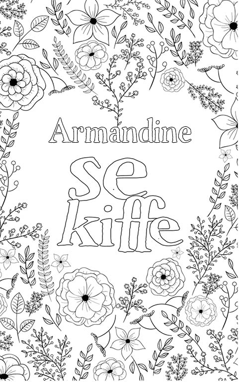 coloriage adulte anti stress personalisé avec prénom Armandine