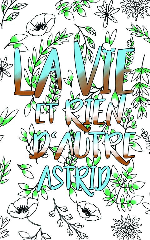 coloriage adulte anti stress personalisé avec prénom Astrid idée cadeau meilleure amie
