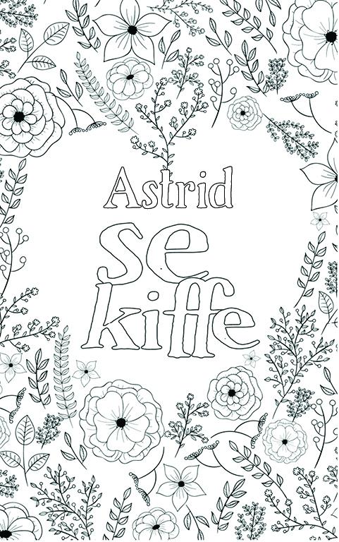 coloriage adulte anti stress personalisé avec prénom Astrid