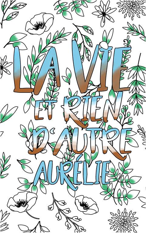 coloriage adulte anti stress personalisé avec prénom Aurélie idée cadeau meilleure amie
