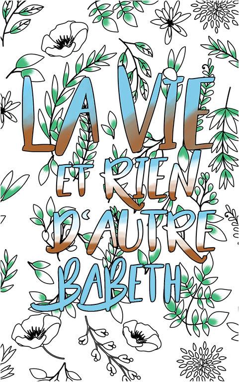 coloriage adulte anti stress personalisé avec prénom Babeth idée cadeau meilleure amie