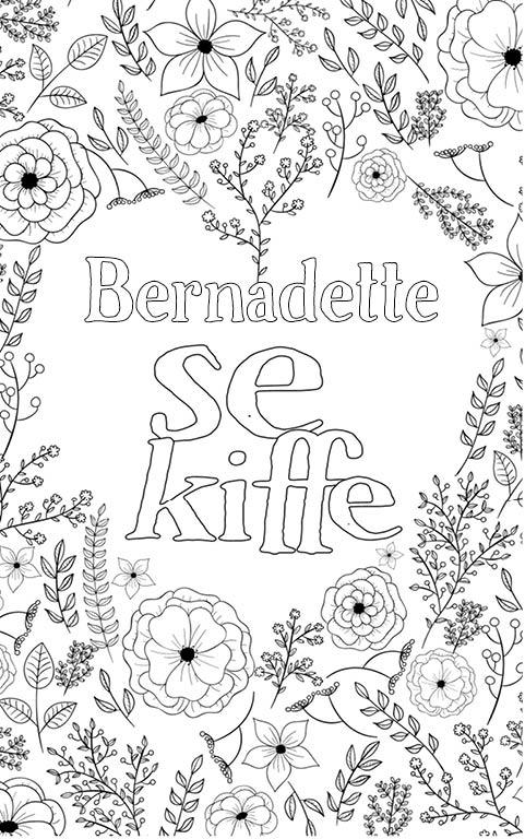 coloriage adulte anti stress personalisé avec prénom Bernadette
