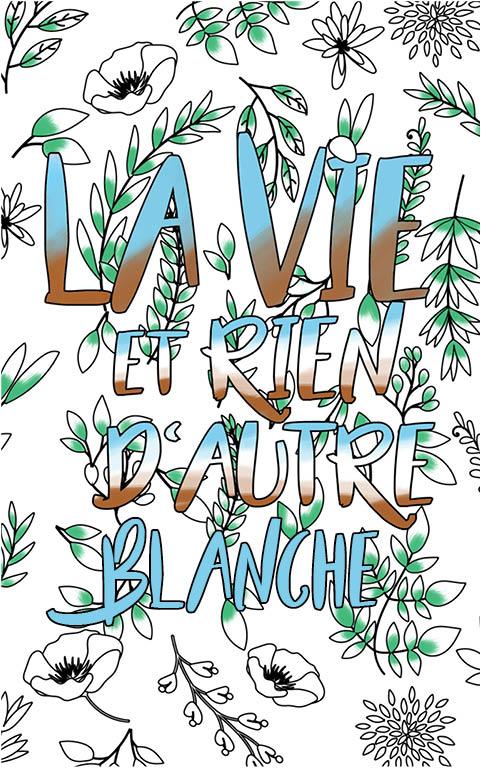 coloriage adulte anti stress personalisé avec prénom Blanche idée cadeau meilleure amie