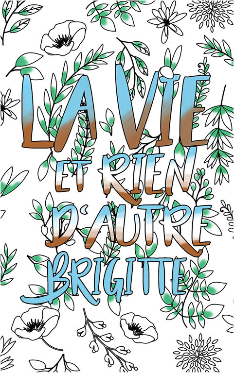 coloriage adulte anti stress personalisé avec prénom Brigitte idée cadeau meilleure amie