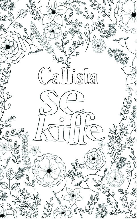 coloriage adulte anti stress personalisé avec prénom Callista