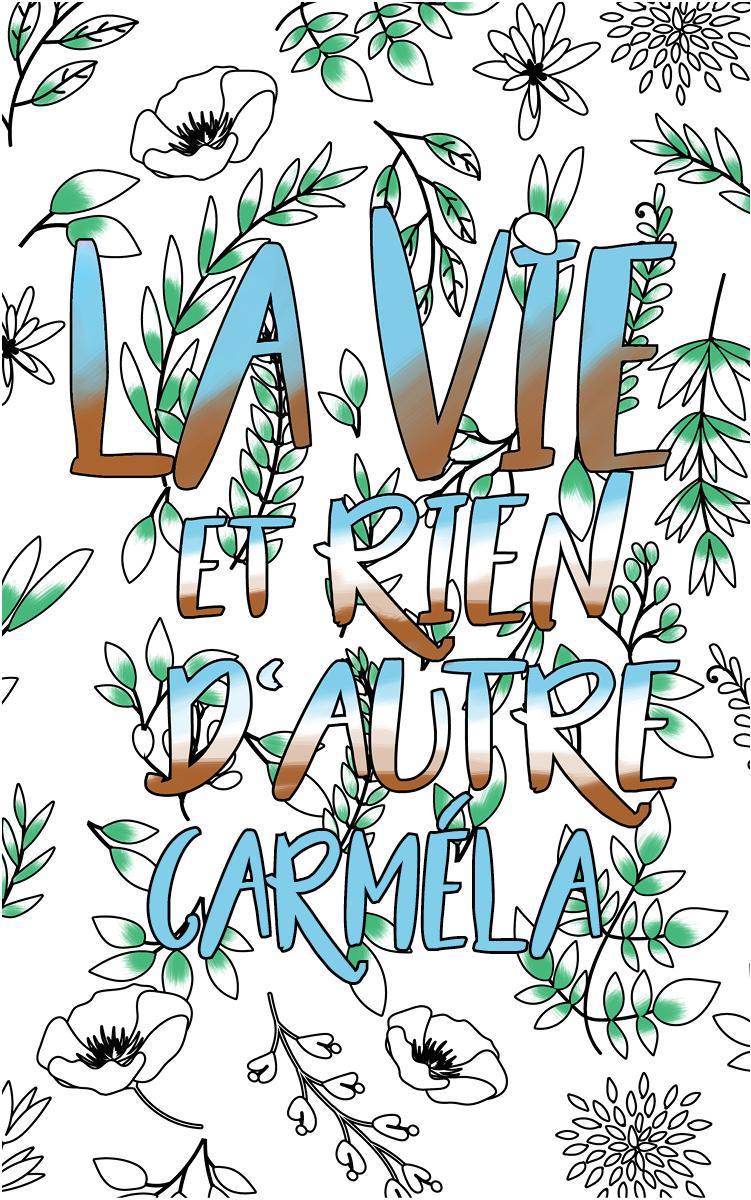 coloriage adulte anti stress personalisé avec prénom Carméla idée cadeau Carméla