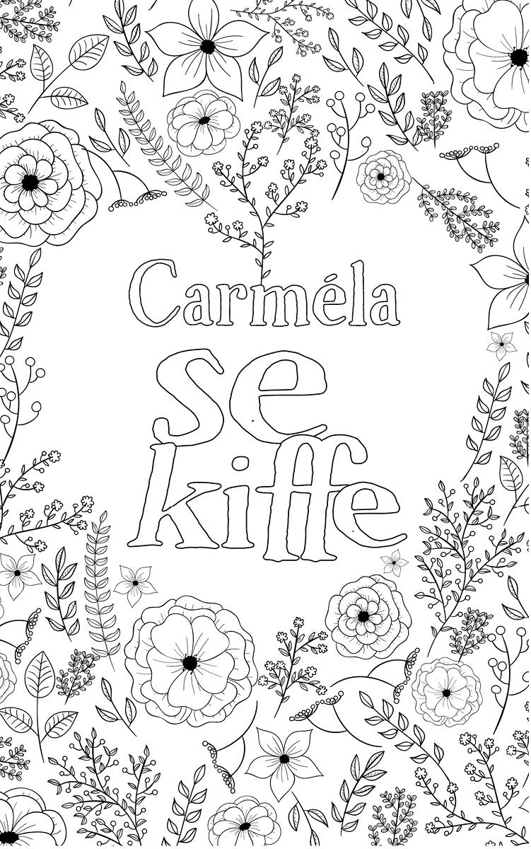 coloriage adulte anti stress personalisé avec prénom Carméla