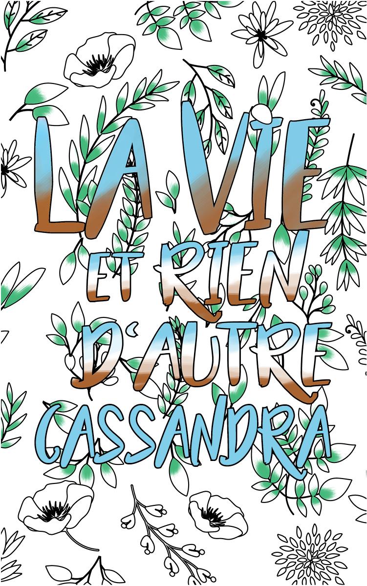 coloriage adulte anti stress personalisé avec prénom Cassandra idée cadeau Cassandra