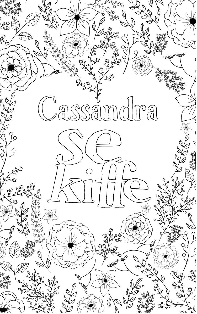 coloriage adulte anti stress personalisé avec prénom Cassandra
