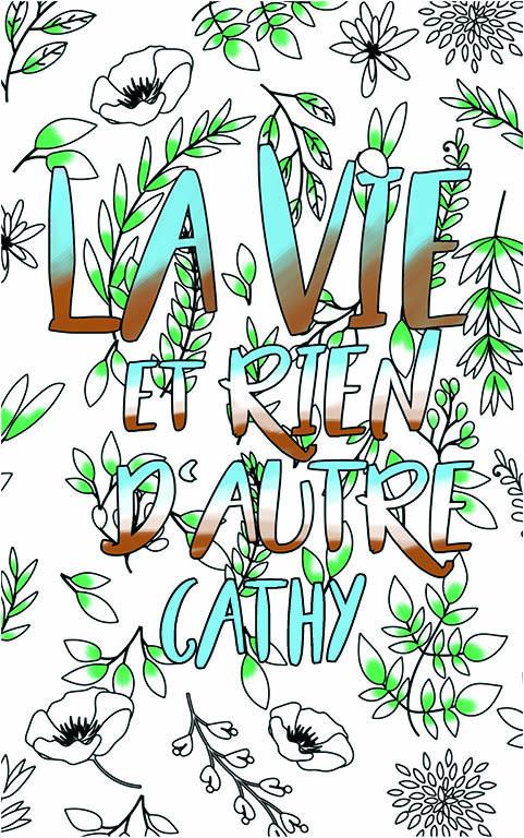 coloriage adulte anti stress personalisé avec prénom Cathy idée cadeau meilleure amie