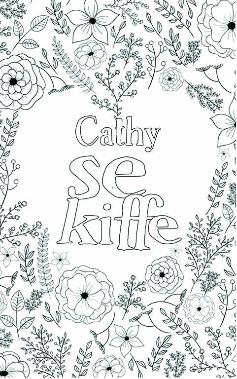 coloriage adulte anti stress personalisé avec prénom Cathy
