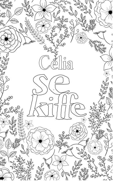 coloriage adulte anti stress personalisé avec prénom Célia