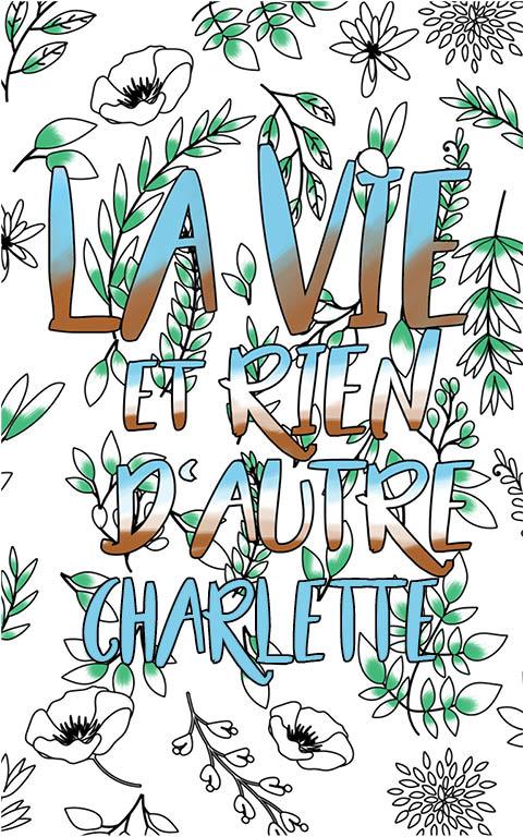 coloriage adulte anti stress personalisé avec prénom Charlette idée cadeau meilleure amie