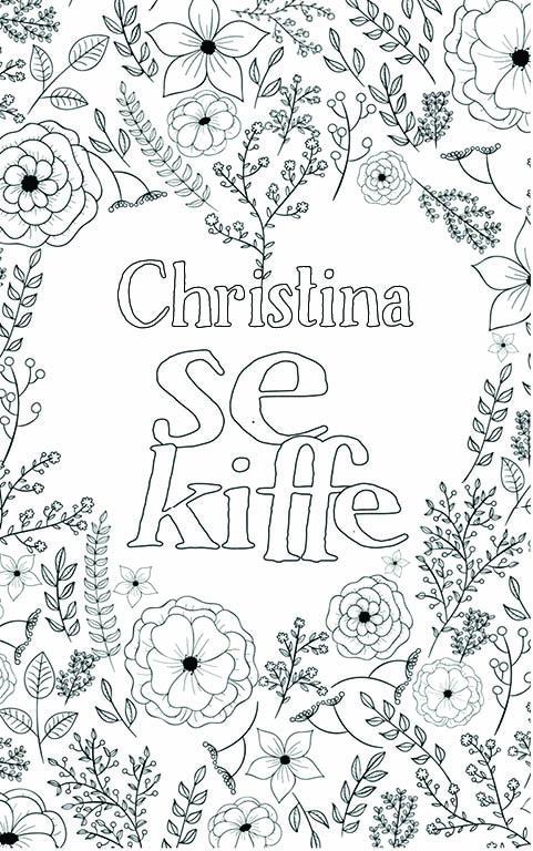 coloriage adulte anti stress personalisé avec prénom Christina