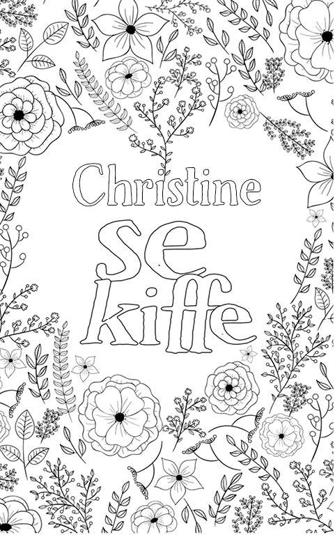 coloriage adulte anti stress personalisé avec prénom Christine