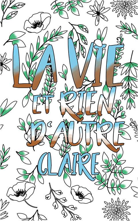 coloriage adulte anti stress personalisé avec prénom Claire idée cadeau meilleure amie