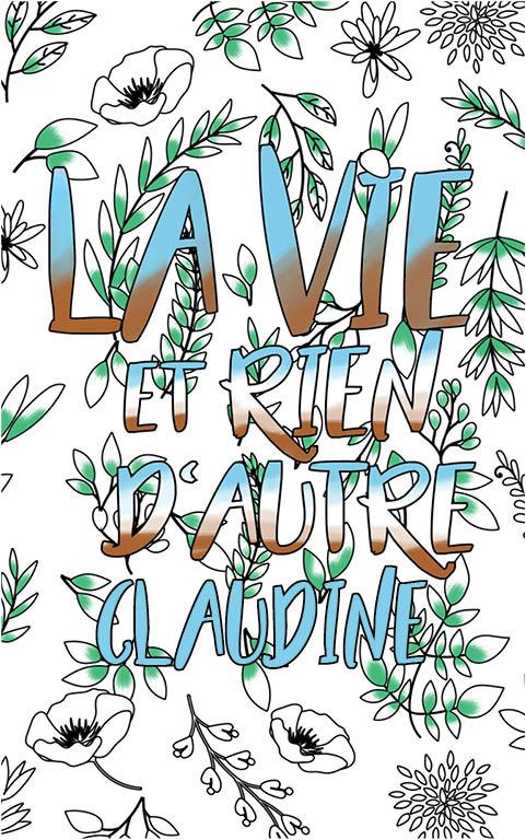 coloriage adulte anti stress personalisé avec prénom Claudine idée cadeau meilleure amie