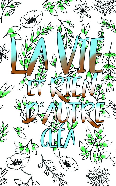 coloriage adulte anti stress personalisé avec prénom Cléa idée cadeau meilleure amie