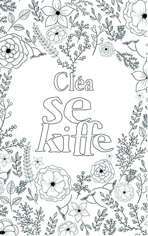 coloriage adulte anti stress personalisé avec prénom Cléa