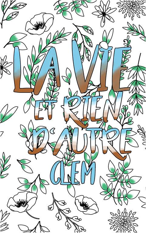 coloriage adulte anti stress personalisé avec prénom Clem idée cadeau meilleure amie