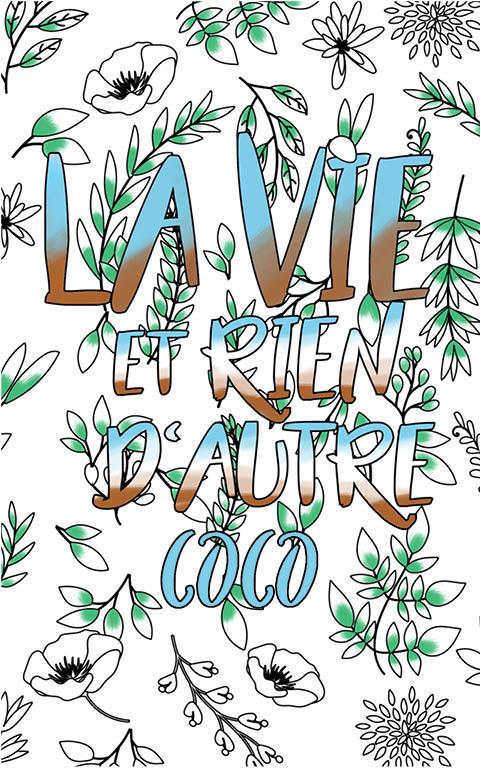 coloriage adulte anti stress personalisé avec prénom Coco idée cadeau meilleure amie