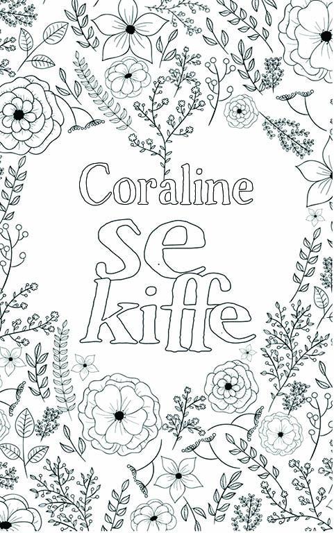 coloriage adulte anti stress personalisé avec prénom Coraline