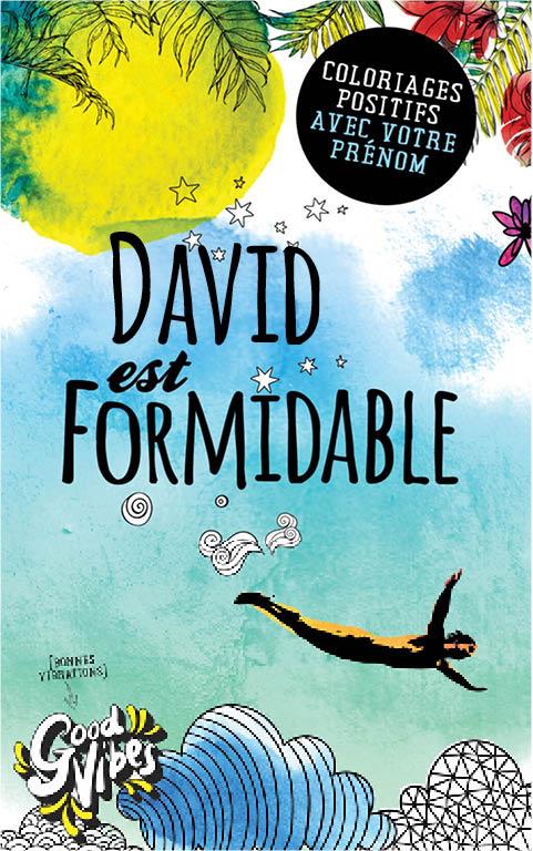David est formidable livre de coloriage personalisé cadeau pour son meilleur ami ou son père
