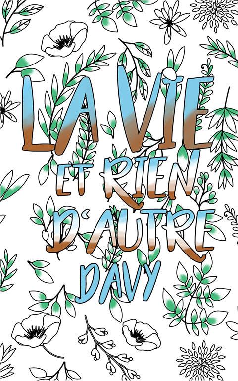 coloriage adulte anti stress personalisé avec prénom Davy idée cadeau meilleur ami