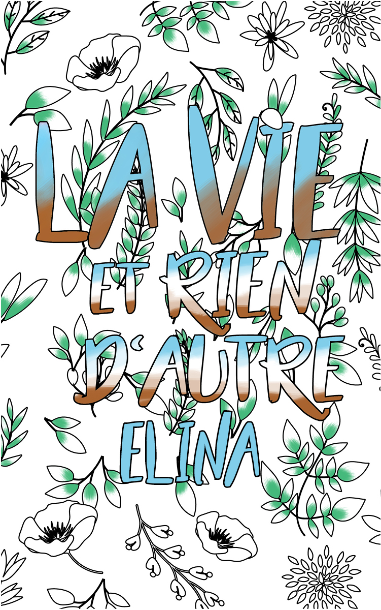 coloriage adulte anti stress personalisé avec prénom Elina idée cadeau Elina