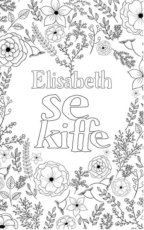 coloriage adulte anti stress personalisé avec prénom Elisabeth